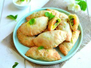 Recette végane de chaussons indiens aux légumes