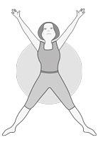 7e posture : Étoile (Utthita Tadasana)