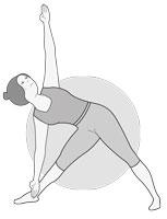 10e posture : Triangle à droite (Utthita Trikonasana)