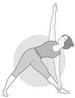 11e posture : Triangle à gauche (Utthita Trikonasana)